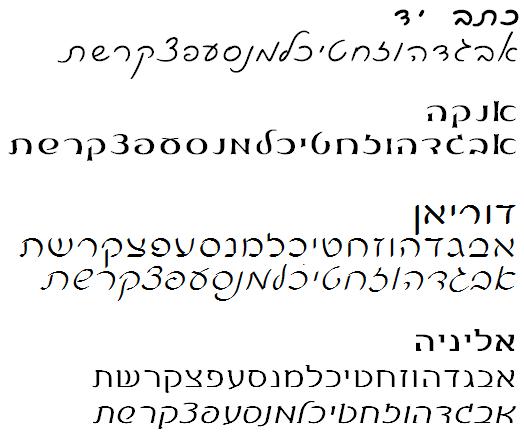 פונטים כתב יד של קולמוס להורדה