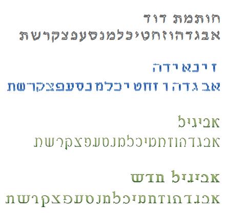 פונטים של יעקב מנדלסון להורדה בחינם3